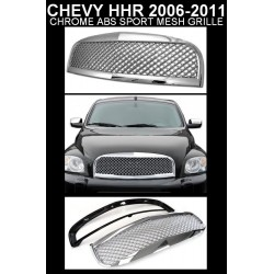 Chrome Mesh Chevy HHR 2006 - 2010 Replacement Grille Shell ABS
