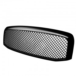 Dodge Ram 2006-2008 1500 2500 Glossy Black Mesh Grille Replacement