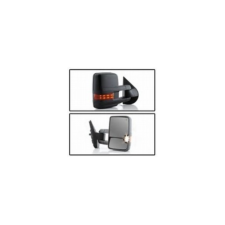 New 2015 style Chevy Silverado 2007-2013 black Towing Mirrors Power heated with led turn signals and led white reverse lights