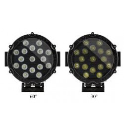 "Led 7"" Round Black Housing Work Lights  54 Watts each Flood Beam 6000K White 3700 Lumens Pair"
