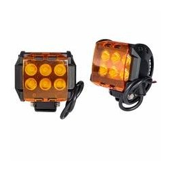 Led 2x3 Work Lights 18 Watts Amber Covers 1160 Lumens each
