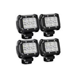 Led Work Lights 2x3 18 watts 1260 Lumens set of 4