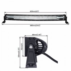 "New Design Triple Row Curve Radius 32"" Led Light Bars 260 watts"