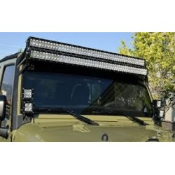 """Jeep Wrangler JK 2007-2017 Dual Bracket 50"""" Led Light Bar roof mount"""
