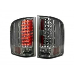Led  2007-2013 Chevy  Silverado Red Clear Taillights