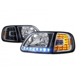 Ford F 150 1997-2003 Expedition 4pc Combo Headlights with Led
