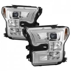 2015-2017 Ford F 150 chrome u bar Halo projector headlights