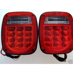 Jeep wrangler  YJ TJ 1987-1996  Led Red Clear Taillights set