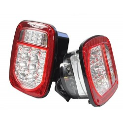 1987-2006 Jeep Wrangler TJ YJ led red clear taillights