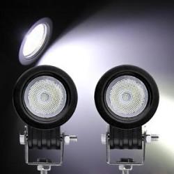 """led 2"""" round 10 watts spot beam 1100 lumens work lights pair"""