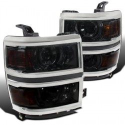2014-2015 Chevy silverado 1500/2500  led projectors chrome smoke  housing
