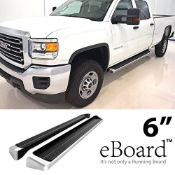 "6"" E Board Side  Steps  2007-2013 GMC Sierra  Crew cab polish"