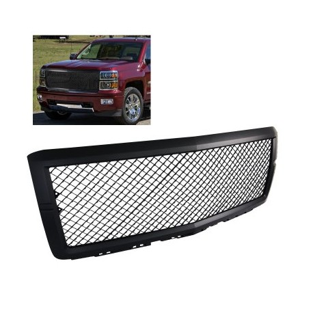 2014-2015 Chevy Silverado 1500 Black  Mesh Grille Replacement