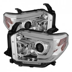 2014-2017 Toyota Tundra  chrome c bar halo projector headlights