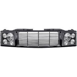 Chevy C-10 88-98 Black Headlight and black Grille conversion