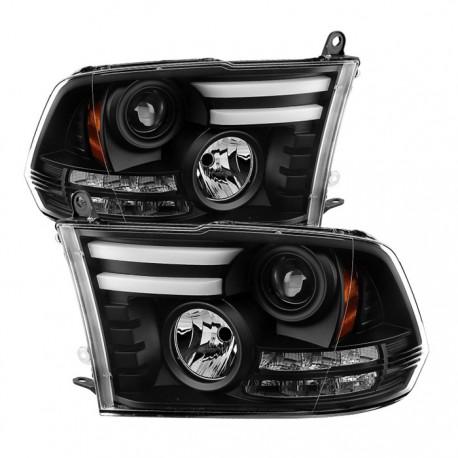 Dodge Ram 2009-2016 1500/2500/3500 Black ccfl projector headlights