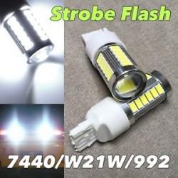 led high power 5 time strobe lights 7440 white