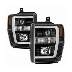 2008-2010 FORD F250/350 SUPER DUTY C BAR HALO PROJECTOR HEADLIGHTS
