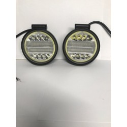 "Led high power work lights 40 watts 4.5"" round with halo 6000k"