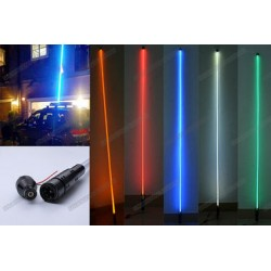 5 FT LED RGB WHIP ANTENNA MULTICOLORS WITH REMOTE AND QUICK RELEASE