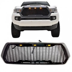 2016-2018 toyota tacoma black  grille raptor style with led amber