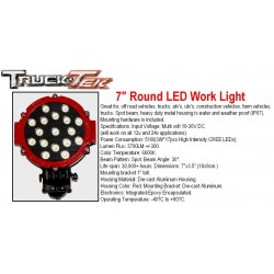 "7"" Round LED Work Lights"