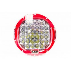"CREE LED 9"" Round Work Light (Red Housing)"