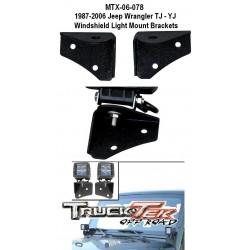 1987-06 Jeep Wrangler TJ YJ Windshield Pod Brackets